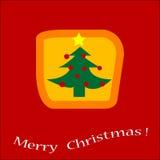 Christmas  card. Simple Christmas tree icon design Stock Image
