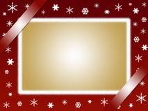 Christmas card. And photo frame Stock Photos