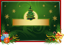 Christmas card. Christams greeting card with a free space for text. Vector image, an additional format avalible Royalty Free Stock Photo