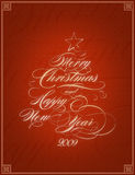 Christmas card. Congratulation card for christmas and new year Stock Photo