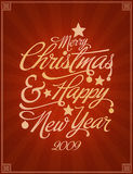 Christmas card. Congratulation card for christmas and new year Stock Images