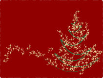 Christmas  card. White Christmas white red background Stock Images