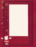 Christmas card. Santa claus Christmas wishes card Stock Photography