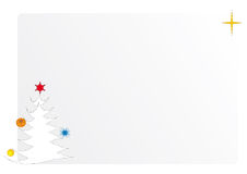 Christmas card. Christmas star and decorated new-year fir-tree. Composition for a festive card Royalty Free Stock Photography