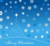 Christmas card. Christmas greeting card with snowflakes Stock Photography
