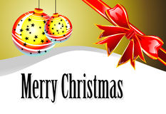 Christmas Card. Merry Christmas Absrtact balls card royalty free illustration