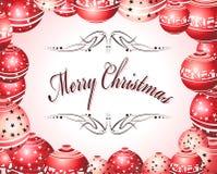 Christmas Card. Merry Christmas Absrtact balls card stock illustration