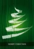 Christmas Card with abstract Christmas tree Royalty Free Stock Images