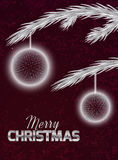 Christmas card with abstract ornaments Royalty Free Stock Photo