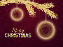 Christmas card with abstract ornaments Stock Image