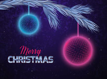 Christmas card with abstract ornaments. Royalty Free Stock Images