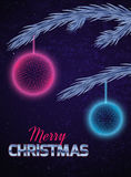 Christmas card with abstract ornaments Stock Photo
