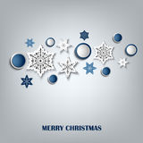 Christmas card with abstract snowflakes in the background Royalty Free Stock Image
