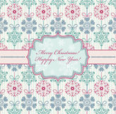 Christmas card with abstract snowflakes Royalty Free Stock Photo