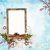 Christmas card in ancient style Stock Images