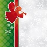 Christmas card with angel Stock Photos