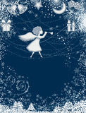 Christmas card with angel Royalty Free Stock Photos