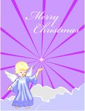 Christmas card with an angel Royalty Free Stock Photos