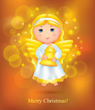 Christmas card with angel. Contains transparent objects. EPS10 Royalty Free Stock Image