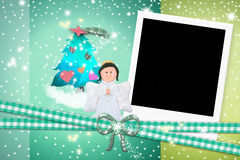 Christmas card Angel Royalty Free Stock Images