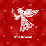 Christmas card with angels Stock Photos