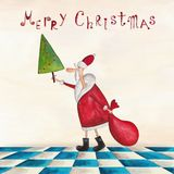 Christmas card. Artistic work. Watercolors on paper Royalty Free Stock Image