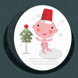 Christmas card with baby boy. Royalty Free Stock Images