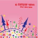 Christmas card background. A vector illustration of christmas greeting card background Stock Photos