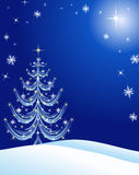 Christmas Card Background Blue Royalty Free Stock Images