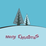 Christmas card background in blue Stock Image