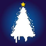 Christmas Card Background. Blue Background with Abstract Christmas Tree Royalty Free Stock Photography
