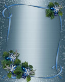 Christmas Card background Blue Sparkle. 3 Dimensional illustration composition for Christmas card or background template with copy space Royalty Free Stock Photography