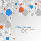 Christmas card, background with christmas decoration Stock Photography