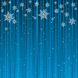 Christmas Card Background. Cyan Background with White Snowflakes Royalty Free Stock Images