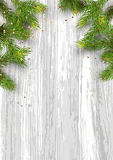 Christmas card background with fir tree and holidays decorations. Vector Illustration Royalty Free Stock Image