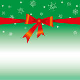 Christmas Card Background. Green Background with Red Loop Royalty Free Stock Images