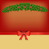 Christmas card background with holly Royalty Free Stock Photo