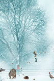 Christmas card background. Royalty Free Stock Photo