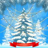 Christmas card. Background Stock Images