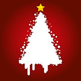 Christmas Card Background. Red Background with Abstract Christmas Tree Royalty Free Stock Photos