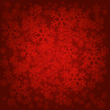 Christmas Card Background. Red Background with White Snowflakes Royalty Free Stock Photography