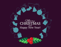 Christmas Card and Background Stock Image