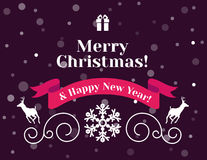 Christmas Card and Background Stock Images