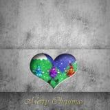 Christmas card background, santa elves. Christmas card background, heart with santa elves Stock Photos
