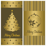 Christmas card background set Royalty Free Stock Photography