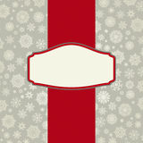 Christmas card background with snowflakes. Stock Photography