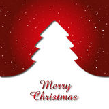 Christmas Card Background. XMAS Background Card with Christmas Gift and Snowflakes Royalty Free Stock Images