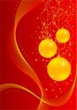 Christmas card with ball Royalty Free Stock Image