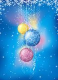 Christmas card with  ball, vec Stock Photo