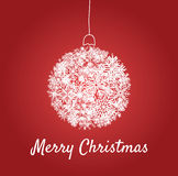 Christmas card with a ball Stock Images